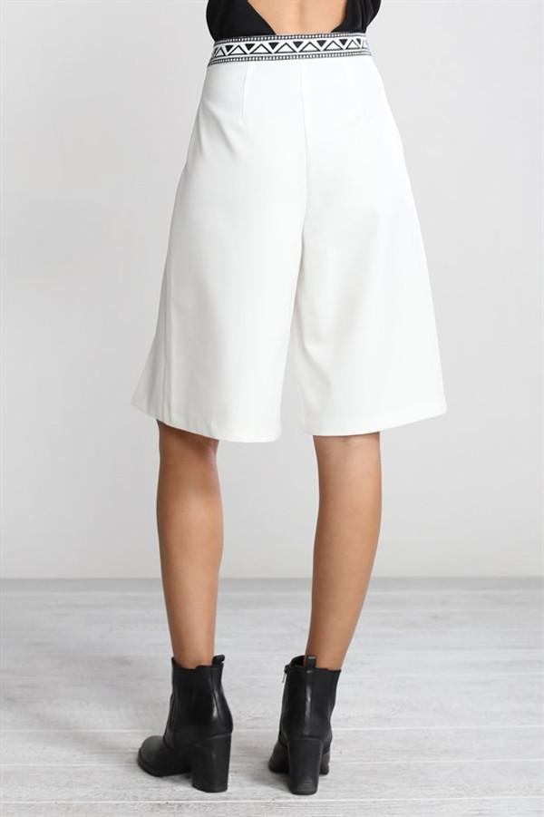 Wide Leg Culotte Shorts
