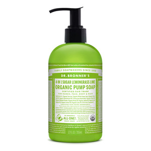 Dr. Bronner's Lemongrass Lime Organic Hand and Body Soap 355ml