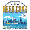CRA Beer Cans San Diego 2017 UPF 50+ Wicking Shirt (Silver)