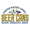 CRA Beer Cans San Diego 2017 Women's Crew Neck Cotton T-Shirt (Blue)