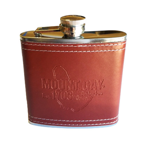 Mount Gay® Rum Brown Leather Bound 6oz Flask