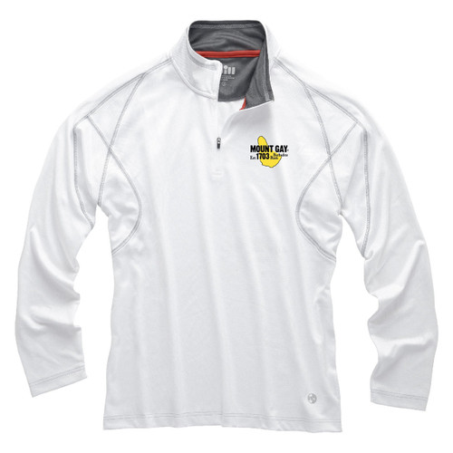 NEW! Mount Gay® Rum UV Tech Zip Pullover by Gill®