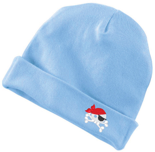 Baby Pirate Infant Baby Rib Cap Light Blue