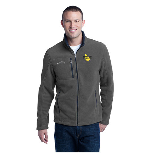 Mount Gay® Rum Full-Zip Fleece Jacket by Eddie Bauer® (Grey)