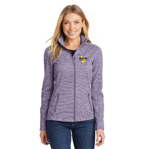 Mount Gay® Rum Women's Digi Stripe Fleece Jacket by Port Authority® (Purple)