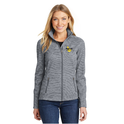 Mount Gay® Rum Women's Digi Stripe Fleece Jacket by Port Authority® (Grey)