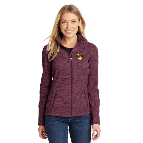 Mount Gay® Rum Women's Digi Stripe Fleece Jacket by Port Authority® (Red)