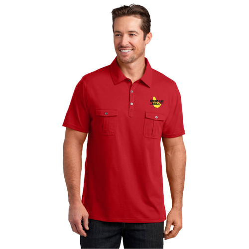 Mount Gay® Rum Double Pocket Polo by District Made® (Red)