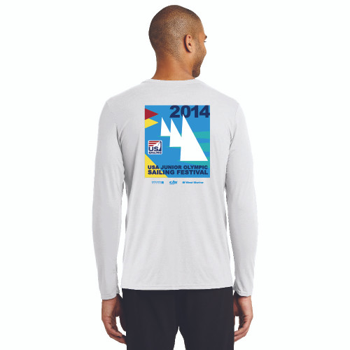 CLOSEOUT! US Junior Olympics 2014 Long Sleeve T-Shirt (White)