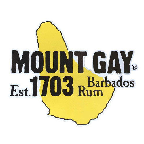 NEW! Mount Gay® Rum Decal/Sticker 6""