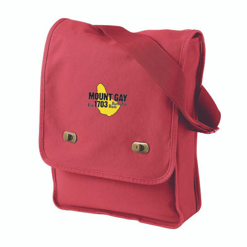 NEW! Mount Gay® Rum Canvas Field Bag (Red)