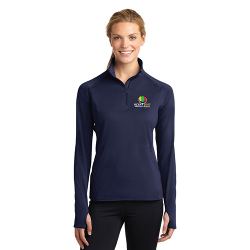 SCYA Midwinter Regatta 2017 Women's Sport-Wick® Stretch 1/4 Zip Wicking Pullover
