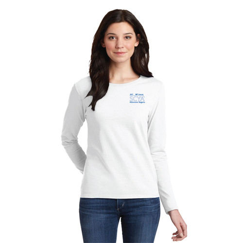 SCYA Midwinter Regatta 2017 Women's Cotton Long Sleeve Shirt