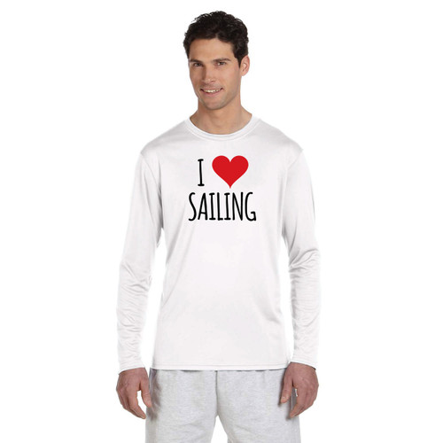 I Love Sailing Men's Wicking Shirt