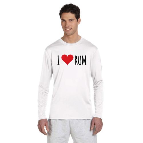 I Love Rum Men's Wicking Shirt