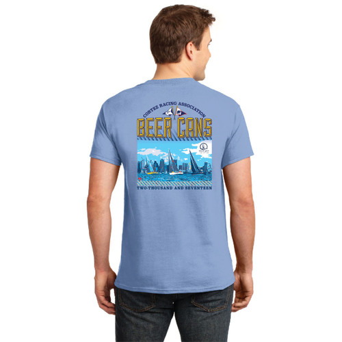CRA Beer Cans San Diego 2017 Men's Cotton Tee (Blue)