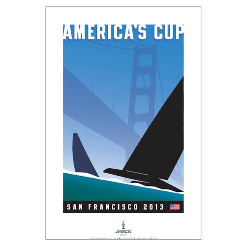 2013 America's Cup San Francisco Print by Michael Schwab