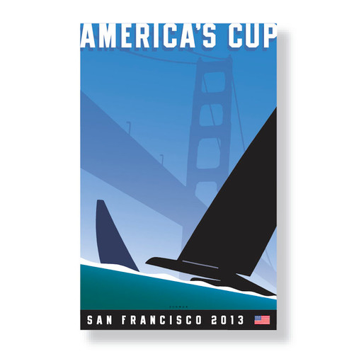 2013 America's Cup Canvas (Large) by Michael Schwab