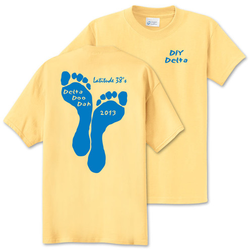 CLOSEOUT! Latitude 38's Delta Doo Dah Unisex Graphic T-Shirt