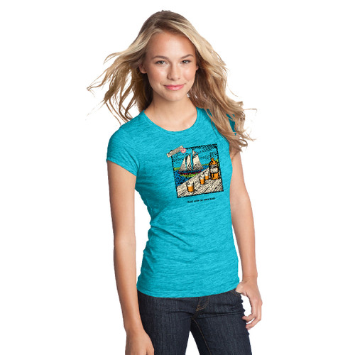 CLOSEOUT! Mount Gay® Rum Bold with and Even Keel Women's Cotton T-Shirt