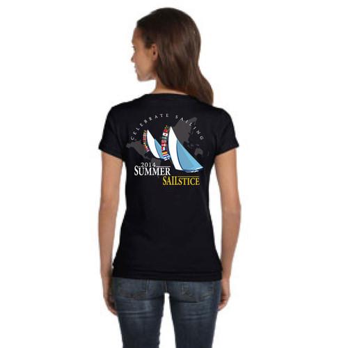 SALE! 2014 Summer Sailstice Women's V-Neck T-Shirt