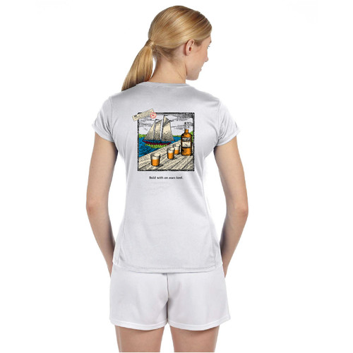 SALE! Mount Gay® Rum Bold with an Even Keel Women's Wicking Shirt