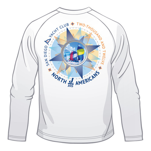 J-105 North Americans 2012 Men's Long Sleeve Wicking Shirt
