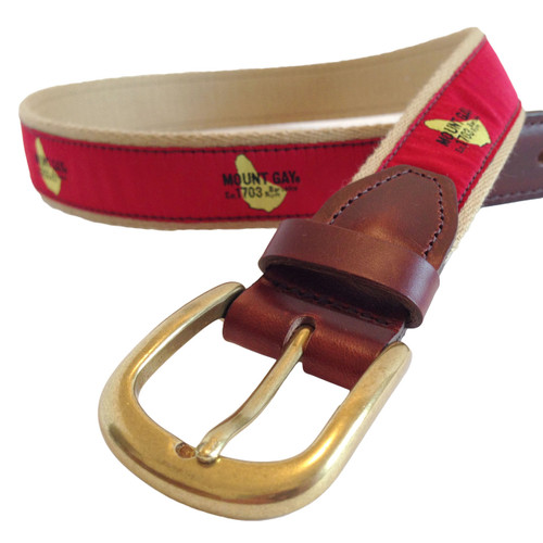 Mount Gay® Rum Premium Leather Belt