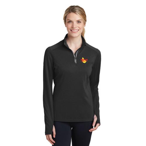 SALE! Mount Gay®Rum Women's Textured 1/4 Zip Wicking Pullover