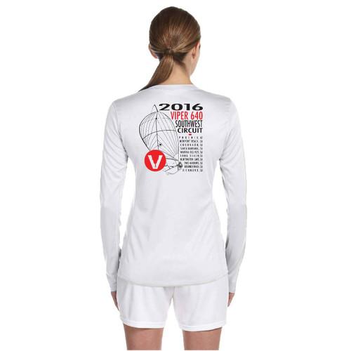 Viper 640 Southwest Circuit 2016 Women's Wicking Shirt (White)