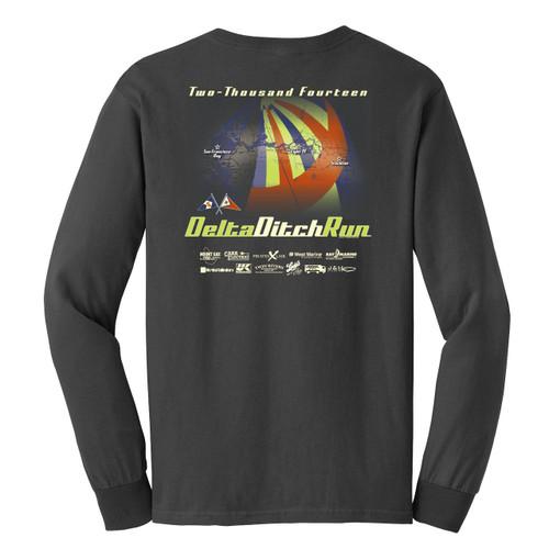 CLOSEOUT! Delta Ditch Run 2014 Long Sleeve Cotton T-Shirt
