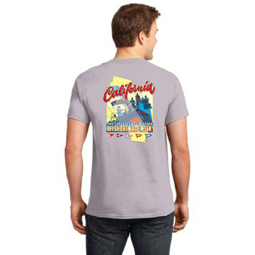 SALE! California Offshore Race Week 2016 Men's Cotton T-Shirt Gray