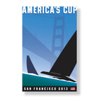 2013 America's Cup Canvas (Small) by Michael Schwab
