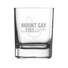 NEW! Mount Gay® Rum Engraved Premium Rum Glass
