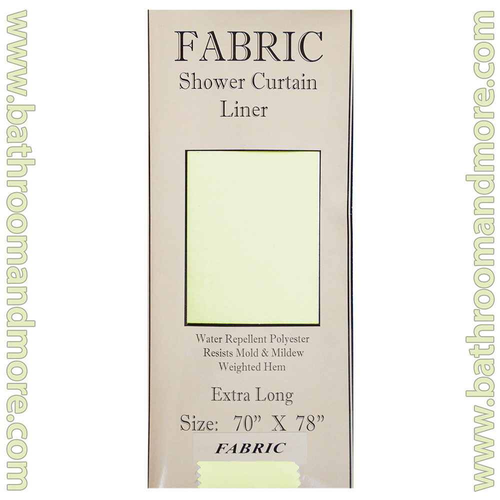 Extra Long Carnation Fabric Shower Curtain Liner Ivory 70 X78 Bathroom And More