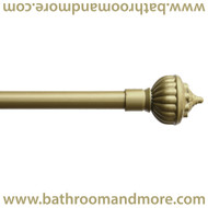 gold scepter finials decorative curtain rod