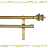Decorative gold double curtain rod