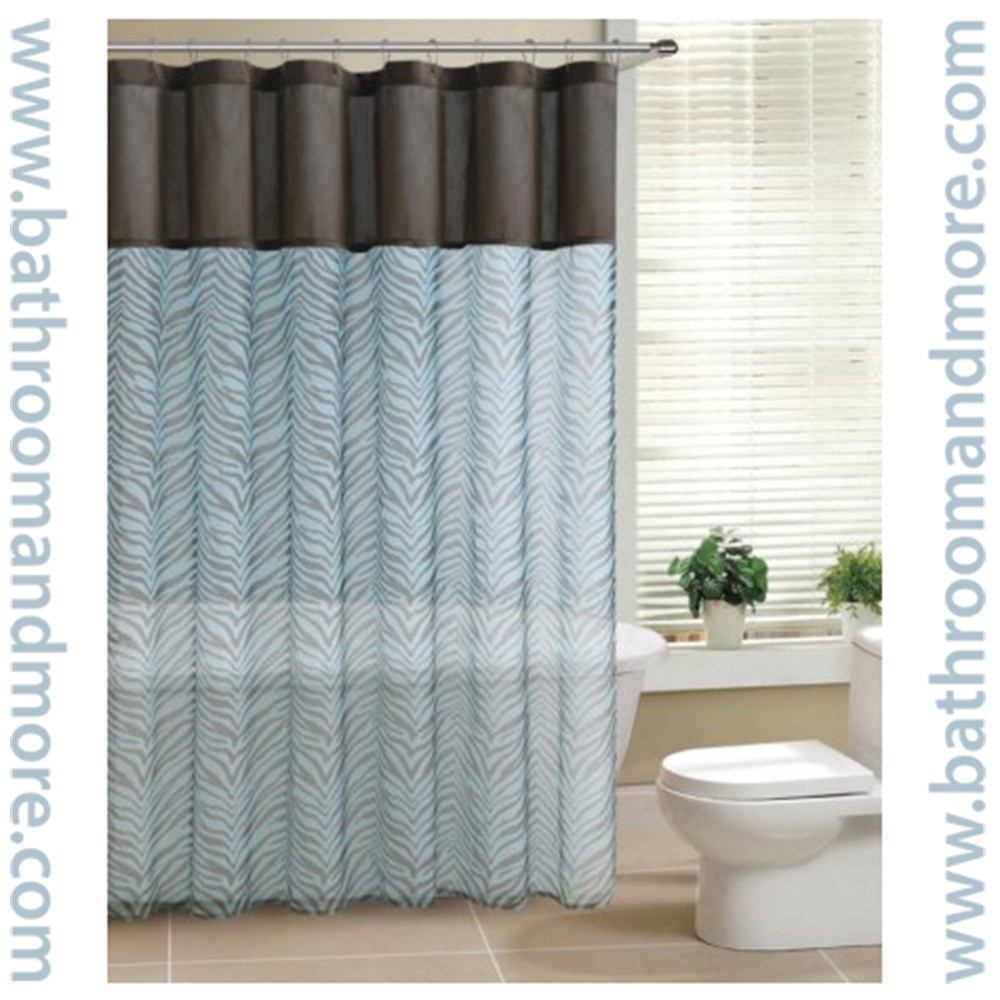 Short Length Bedroom Curtains Sage Green and Brown Shower