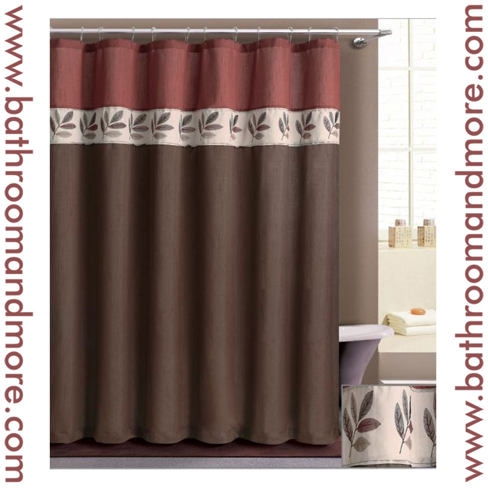 Orange And Brown Curtains Retro Shower Curtain