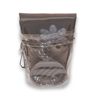 Brown 22 piece bath in a bag accessory set.