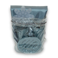 Slate Blue 22 piece bath in a bag accessory set.