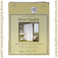 "Gold Hotel Weight 8 Gauge Vinyl Shower Curtain Liner 72""x72"""