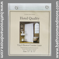 "Frosty Clear Hotel Weight 8 Gauge Vinyl Shower Curtain Liner 72""x72"""