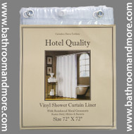 "Super Clear Hotel Weight 8 Gauge Vinyl Shower Curtain Liner 72""x72"""