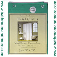"Evergreen Hotel Weight 8 Gauge Vinyl Shower Curtain Liner 72""x72"""