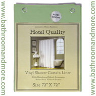 "Sage Green Hotel Weight 8 Gauge Vinyl Shower Curtain Liner 72""x72"""