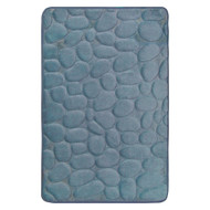 Smoke Blue Memory Foam Bath Mat Set : Non Skid, Day Spa, Home Dynamix