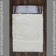 "Ivory 2 Piece High Pile Microfiber Bath Mat Rug Set 20"" x 32"" and 17""x 24"""