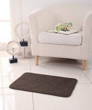"Circle Design Memory Foam Bath Mat/rug : 17"" X 24"", Non-slip Backing, Soft Padded (Chocolate)"