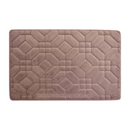Dusty Mauve Memory Foam Bathroom Mat/rug: Day Spa Tiles Design Soft Absorbent Non-skid